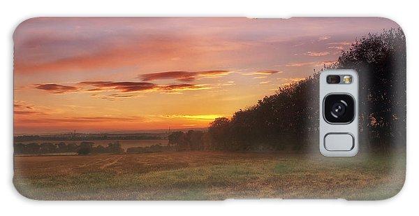 Sunrise In The Fields Galaxy Case