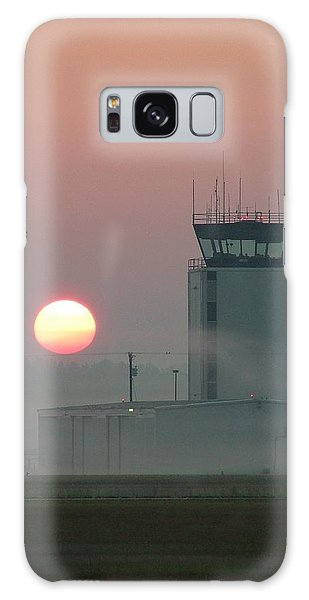 Sunrise In The Fog At East Texas Regional Airport Galaxy Case