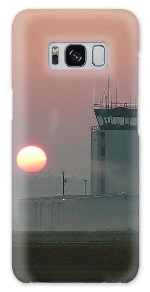 Sunrise In The Fog At East Texas Regional Airport Galaxy Case