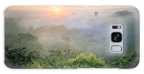 Sunrise In Tikal Galaxy Case