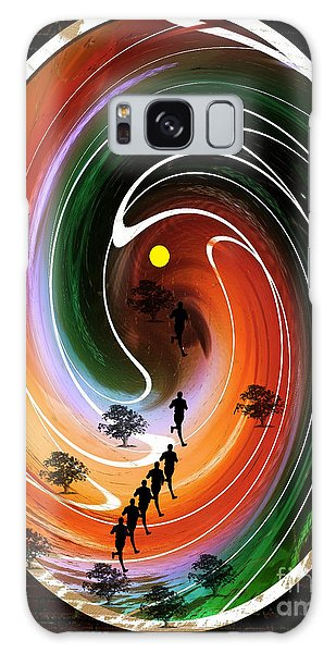 Sunrise Joggers  Galaxy Case by Ann Calvo