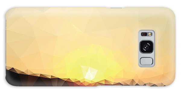 Dusk Galaxy Case - Sunrise Low Poly Effect Abstract Vector by Vinko93