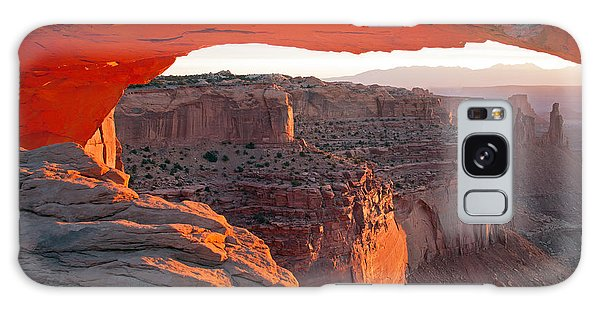 Sunrise Mesa Arch Canyonlands National Park Galaxy Case