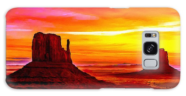 Sunrise Monument Valley Mittens Galaxy Case