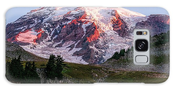 Sunrise Mt Rainier Galaxy Case by Sharon Seaward