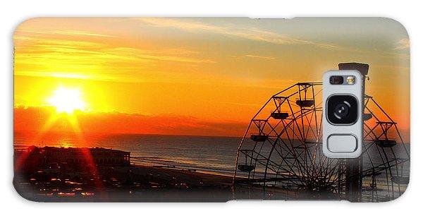 Sunrise Ocean City Boardwalk Galaxy Case
