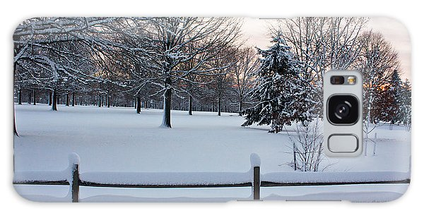 Galaxy Case featuring the photograph Sunrise On A Snowy Morning by Ann Murphy