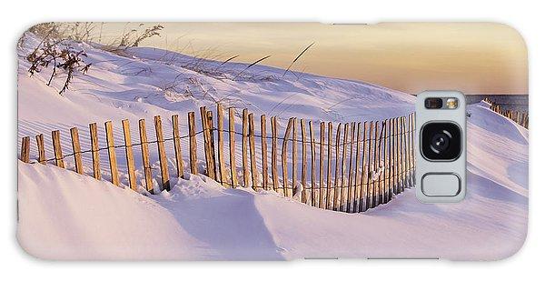 Sunrise On Beach Fence Galaxy Case by Betty Denise
