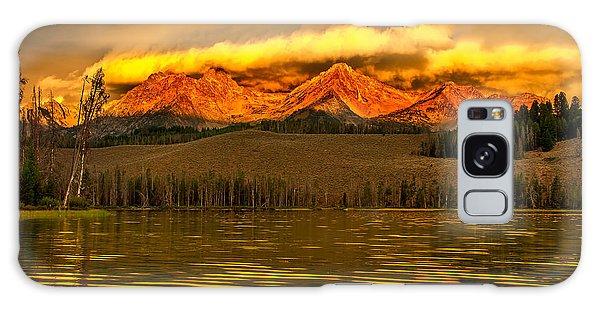 Haybale Galaxy Case - Sunrise On Little Redfish Lake by Robert Bales