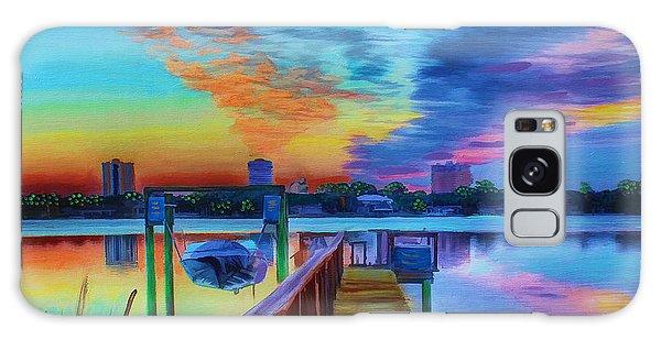 Sunrise On The Dock Galaxy Case