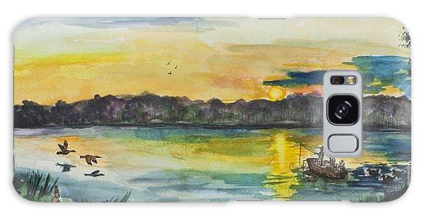 Sunrise On The Lake Galaxy Case