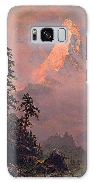 Sunrise On The Matterhorn Galaxy Case by Albert Bierstadt