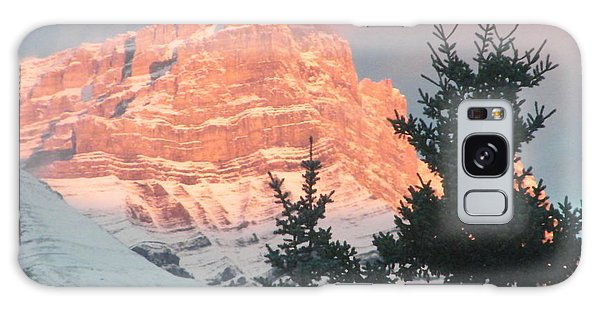 Galaxy Case featuring the photograph Sunrise On The Mountain by Ann E Robson