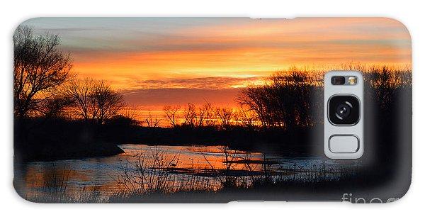 Sunrise On The River Galaxy Case by Renie Rutten