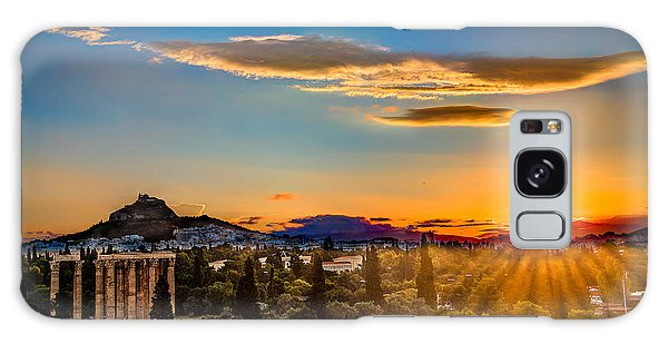 Sunrise On The Temple Of Olympian Zeus Galaxy Case