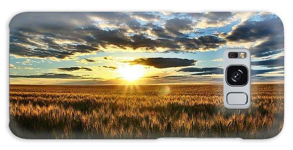 Sunrise On The Wheat Field Galaxy Case by Lynn Hopwood