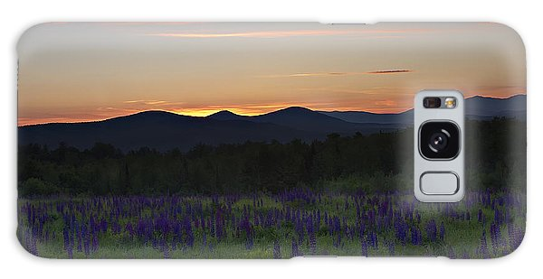 Sunrise Over A Field Of Lupines Galaxy Case