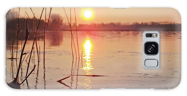 Sunrise Over Frozen Water Galaxy Case