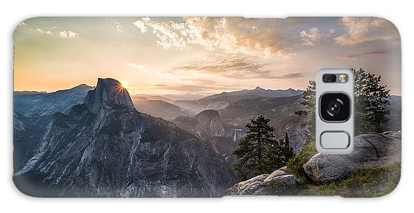 Sunrise Over Half Dome At Glacier Point Galaxy Case by Mike Lee