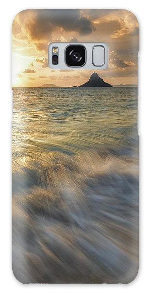 Sunrise Over Mokoli'i Galaxy Case by Hawaii  Fine Art Photography