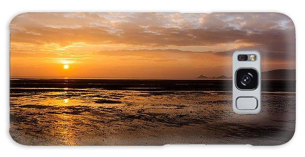 Sunrise Over Mumbles Mudflats Galaxy Case