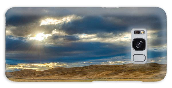 Sunrise Over Palouse Road Galaxy Case