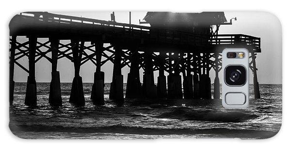 Sunrise Over Pier Galaxy Case