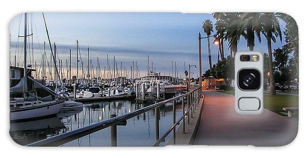 Marina Galaxy Case - Sunrise Over Santa Barbara Marina by Tom Mc Nemar