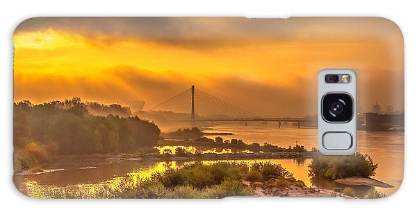 Sunrise Over Swiatokrzyski Bridge In Warsaw Galaxy Case by Julis Simo