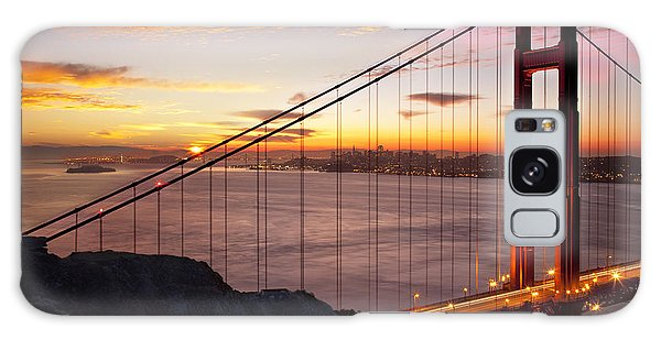 Sunrise Over The Golden Gate Bridge Galaxy Case