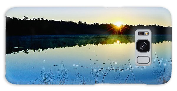 Sunrise Over The Lake Galaxy Case