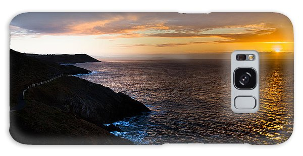 Sunrise Over The Wales Coast Path Galaxy Case