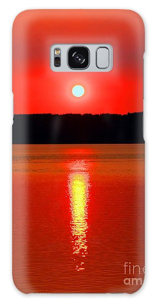 Sunrise Over Whidbey Island Galaxy Case