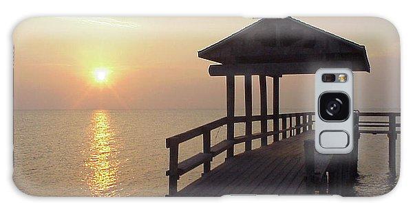 Sunrise Pier 1 Galaxy Case by D Wallace