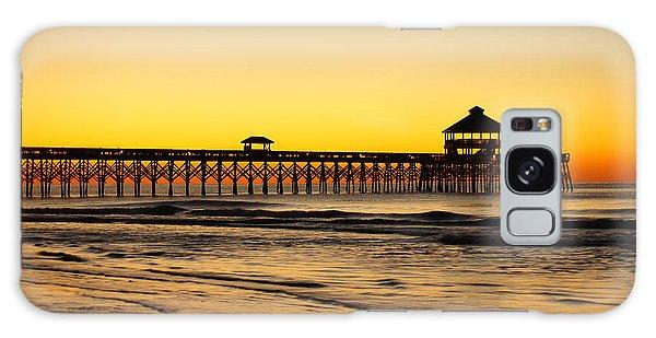 Sunrise Pier Folly Beach Sc Galaxy Case