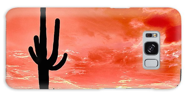 Sunrise Saguaro National Park Galaxy Case