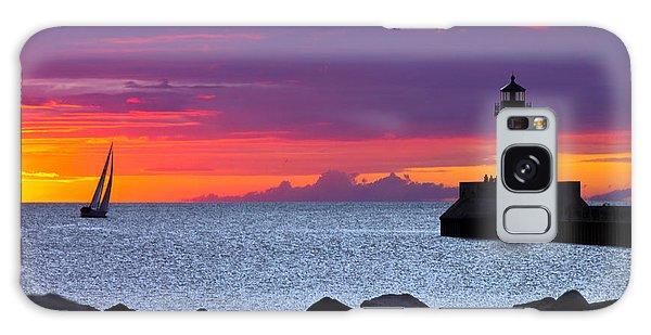 Sunrise Sailing Galaxy Case by Mary Amerman