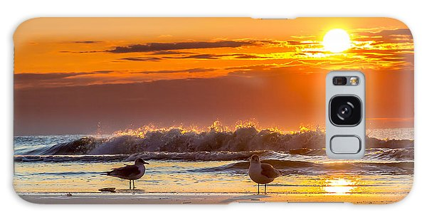 Sunrise Seagulls Galaxy Case