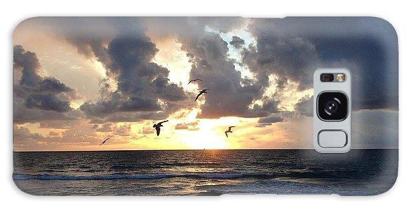 Sunrise Seagulls Galaxy Case