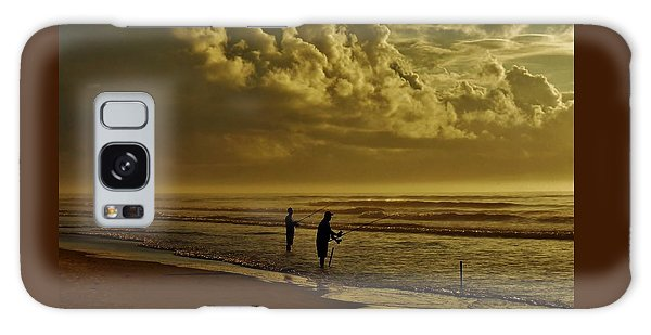 Sunrise Surf Fishing Galaxy Case by Ed Sweeney