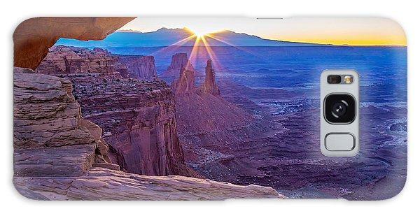 Sunrise Through Mesa Arch Galaxy Case