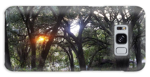 Sunrise Through The Oaks Galaxy Case