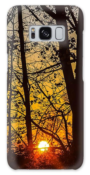 Sunrise Through Trees Galaxy Case
