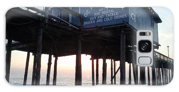 Sunrise Under The Oc Fishing Pier Galaxy Case
