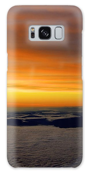 Sunrise View From Plane Galaxy Case by Alex King
