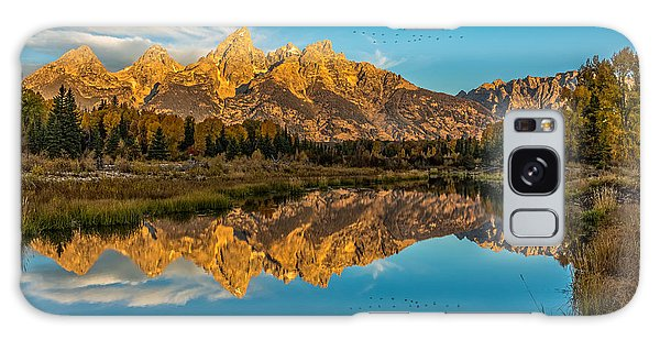 Sunrise Vision At The Grand Tetons Galaxy Case by Yeates Photography