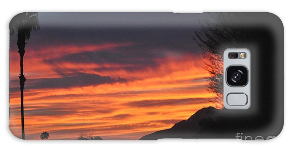 Sunrise With Lone Sentinel Over Desert Galaxy Case