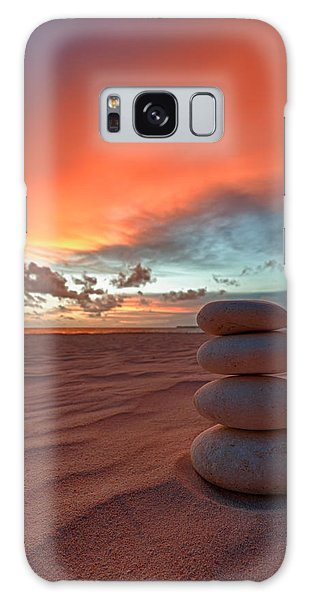 Galaxy Case featuring the photograph Sunrise Zen by Sebastian Musial