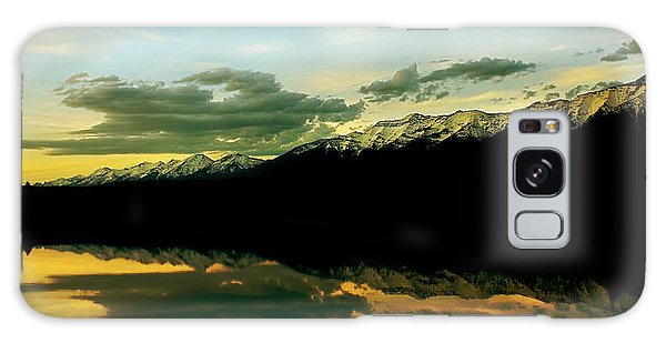 Sunset 1 Rainy Lake Galaxy Case