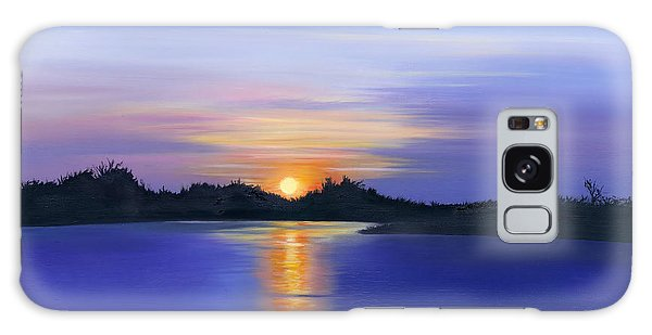 Sunset Across The River Galaxy Case